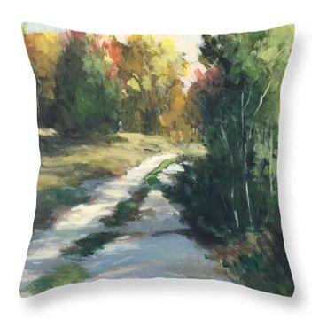 Fall Shadows Throw Pillow