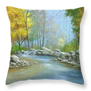 Fall Solitude Throw Pillow