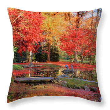 Throw Pillow featuring the photograph Fall Spendor by Geraldine DeBoer