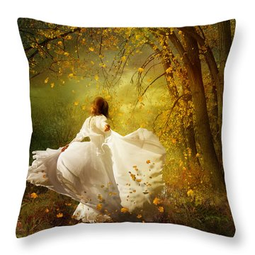 Fall Splendor Throw Pillow by Mary Hood