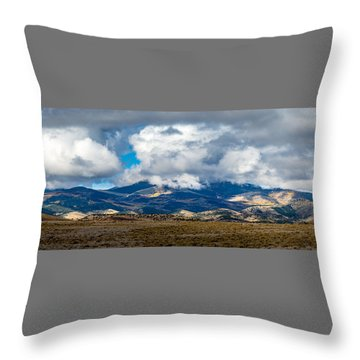 Fall Storm Clearing Off Pintada Mountain Throw Pillow