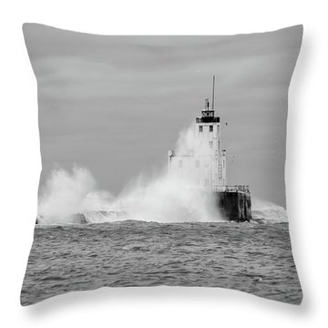 Throw Pillow featuring the photograph Fall Storm II by Paul Schultz