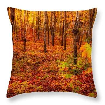 Fall Sugar Bush Throw Pillow