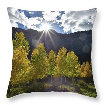Fall Sun Setting Over Mt. Charleston Throw Pillow