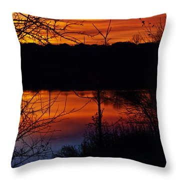 Fall Sunset Throw Pillow