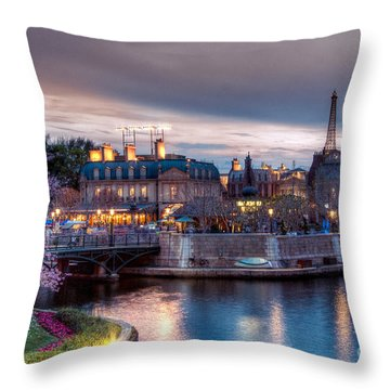 Fall Sunset Of France Throw Pillow