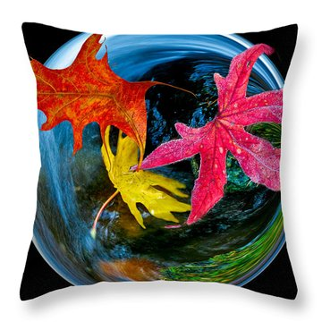 Fall Takes Over Throw Pillow