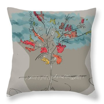 Fall To Peaces Throw Pillow