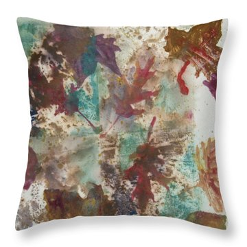 Fall Treasures Throw Pillow by Claudia Smaletz