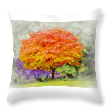 Fall Tree Throw Pillow by Greg Collins