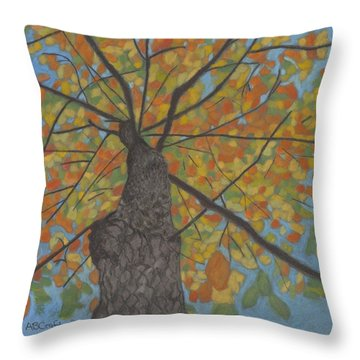 Fall Up Throw Pillow by Arlene Crafton
