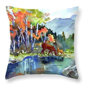 Fall, Upon Us Throw Pillow