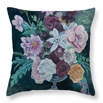 Fall Vase Throw Pillow by Jana Goode