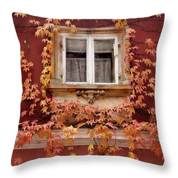 Fall Window,prague Throw Pillow