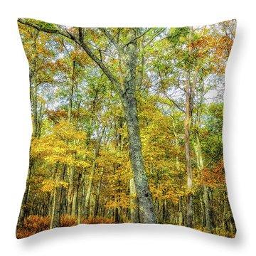 Fall Yellow Throw Pillow