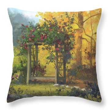 Fall Yellow Throw Pillow by Michael Humphries