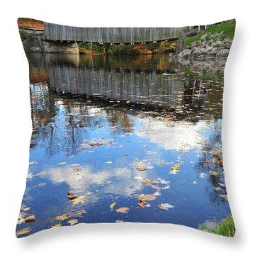 Fallasburg Covered Bridge 16 Throw Pillow