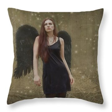 Throw Pillow featuring the photograph Fallen Angel by Brian Hughes