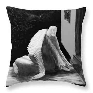 Fallen Angel Noir  Throw Pillow