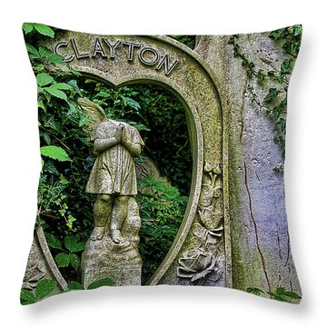 Fallen Angel Throw Pillow by Oliver Kluwe