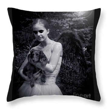 Throw Pillow featuring the photograph Fallen Angel by Rebecca Margraf