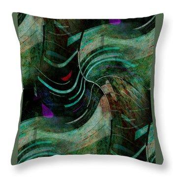 Throw Pillow featuring the digital art Fallen Angle by Sheila Mcdonald