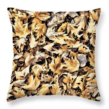 Fallen Autumn Leaves Throw Pillow
