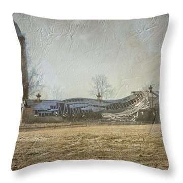 Fallen Barn  Throw Pillow