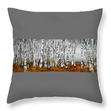 Throw Pillow featuring the painting Fallen by Chad Berglund