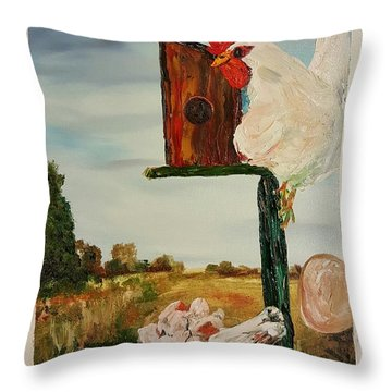 Fallen Egg 21 Throw Pillow