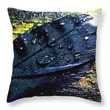 Fallen Feather Throw Pillow by Thomas R Fletcher