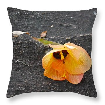 Fallen Flower Throw Pillow