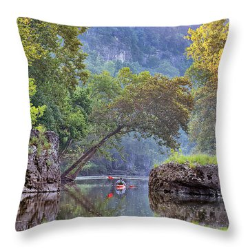 Fallen Giants Throw Pillow by Robert Charity