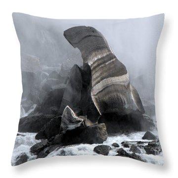 Fallen Ice Throw Pillow