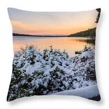 Fallen Leaf Lake Throw Pillow