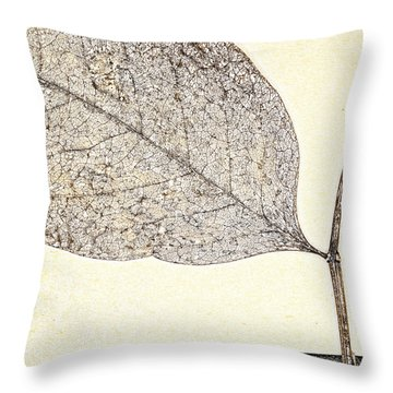 Fallen Leaf One Of Two Throw Pillow