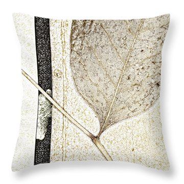 Fallen Leaf Two Of Two Throw Pillow