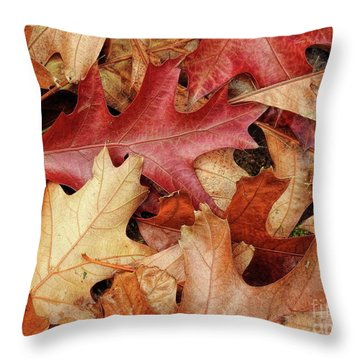 Throw Pillow featuring the photograph Fallen by Peggy Hughes