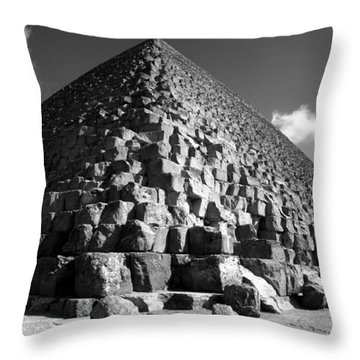 Fallen Stones At The Pyramid Throw Pillow