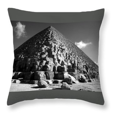 Fallen Stones At The Pyramid Throw Pillow