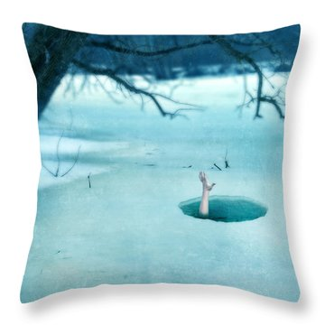 Fallen Through The Ice Throw Pillow
