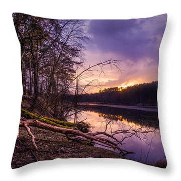 Fallen To The Setting Sun Throw Pillow