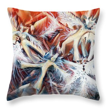 Falling Angels Throw Pillow