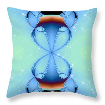 Throw Pillow featuring the digital art Falling Awake by Wendy J St Christopher