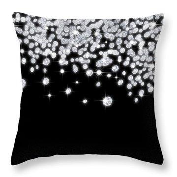 Falling Diamonds Throw Pillow by Setsiri Silapasuwanchai