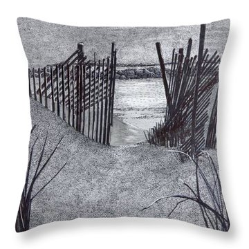 Falling Fence Throw Pillow