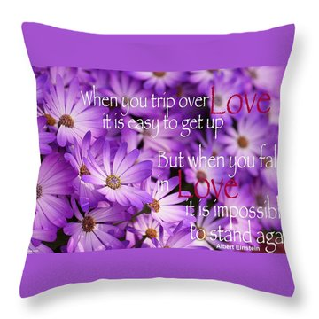 Falling First Throw Pillow