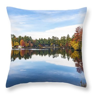 Throw Pillow featuring the photograph Falling For New Hampshire by Anthony Baatz