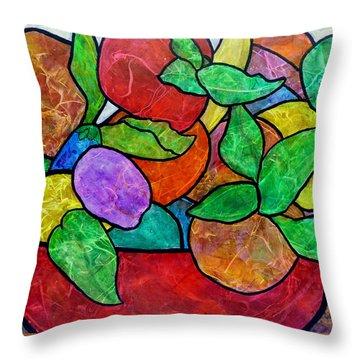 Falling Fruit Throw Pillow
