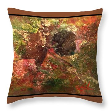 Throw Pillow featuring the mixed media Falling In Love  by Delona Seserman
